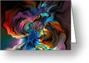 Generative Digital Art Greeting Cards - Being transformed Greeting Card by Claude McCoy