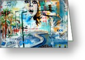 Graffiti Greeting Cards - Beirut 2 Greeting Card by Khalid Hussein