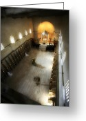 Byzantine Greeting Cards - Beit Jamal monastery 3 Greeting Card by Isaac Silman