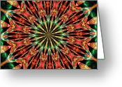 Jewel Tones Digital Art Greeting Cards - Bejewelled Greeting Card by Kristin Elmquist