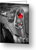Chrome Grill Greeting Cards - Bel Air Classic Greeting Card by Perry Webster
