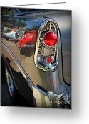Chrome Grill Greeting Cards - Bel Air Details Greeting Card by Perry Webster