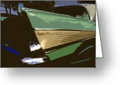 Fifties Automobile Greeting Cards - Belair Greeting Card by David Lee Thompson