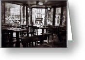 Blackandwhite Greeting Cards - Belcourt: Un Peu De Paris En Nyc Greeting Card by Natasha Marco