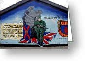 Regiment Greeting Cards - Belfast Mural Greeting Card by Thomas R Fletcher