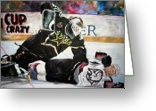 Hockey Stars Greeting Cards - Belfour Greeting Card by Travis Day