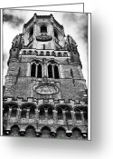 Medieval Architecture Greeting Cards - Belfry Design Greeting Card by John Rizzuto