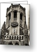 Medieval Architecture Greeting Cards - Belfry of Bruges Greeting Card by John Rizzuto