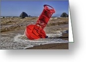 Protect Greeting Cards - Bell Buoy Greeting Card by Garry Gay