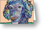 Poodle Greeting Cards - Bell Greeting Card by Pat Saunders-White