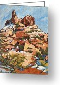 Butte Creek Greeting Cards - Bell Rock 2 Greeting Card by Sandy Tracey