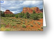 Az Greeting Cards - Bell Rock at Sedona Az. Greeting Card by James Steele
