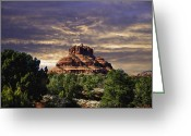 Frank Feliciano Greeting Cards - Bell Rock in HDR Greeting Card by Frank Feliciano