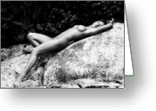 Naked Women Greeting Cards - Bella Addormentata Greeting Card by Tonino Guzzo
