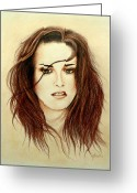 Kristen Stewart Greeting Cards - Bella Greeting Card by Lena Day