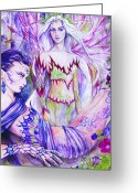 Fantasy Art Greeting Cards - Belladona from the Fiary Collection Greeting Card by Morgan Fitzsimons