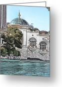 Digital Image Greeting Cards - Bellagio Greeting Card by Tom Prendergast