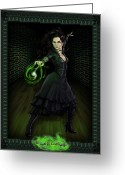 Spell Greeting Cards - Bellatrix Lestrange Greeting Card by Christopher Ables