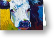 Farm Painting Greeting Cards - Belle Greeting Card by Marion Rose