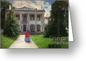 Landscape Framed Print Greeting Cards - Belle Meade Plantation Greeting Card by Lianne Schneider