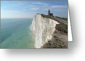 Horizon Over Water Greeting Cards - Belle Tout Lighthouse, East Sussex. Greeting Card by Philippe Cohat
