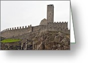 Battlement Greeting Cards - Bellinzona - Ticino Greeting Card by Joana Kruse