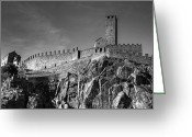 Heritage Greeting Cards - Bellinzona Switzerland Castelgrande Greeting Card by Joana Kruse