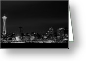 Seattle Waterfront Greeting Cards - Belltown & Space Needle Greeting Card by Andrew A Smith