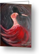 Swaying Greeting Cards - Belly Dancer 3 Greeting Card by Julie Lueders