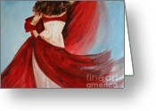 Swaying Greeting Cards - Belly Dancer Greeting Card by Julie Lueders