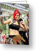 Renaissance Festival Greeting Cards - Belly Dancer Greeting Card by Scott Hovind