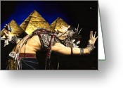 Night Greeting Cards - Bellydance of the Pyramids - Rachel Brice Greeting Card by Richard Young