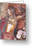 Belly Dance Greeting Cards - BellyDancer Greeting Card by Stephanie Bolton