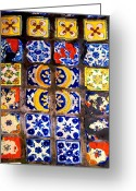 Darian Day Greeting Cards - Belmar Tiles by Darian Day Greeting Card by Olden Mexico