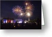 Pyrotechnics Greeting Cards - Belton Fireworks Greeting Card by Martin Cameron