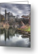 Spring Time Greeting Cards - Belvedere Castle Vertical Greeting Card by Ariane Moshayedi