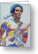 Musician Drawings Greeting Cards - Ben harper Greeting Card by Joshua Morton