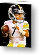 Pittsburgh Steelers Greeting Cards - Ben Roethlisberger Greeting Card by Stephen Younts