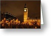 London England  Digital Art Greeting Cards - Ben with Flowers Greeting Card by Mike McGlothlen