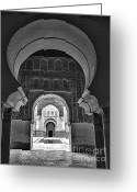 Koran Greeting Cards - Ben Youssef Medersa II Greeting Card by Chuck Kuhn
