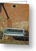Dilapidated Greeting Cards - Bench Greeting Card by Joana Kruse