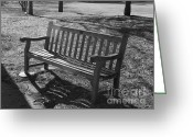 Flossmoor Greeting Cards - Benched for the Season Greeting Card by Roy Kaelin