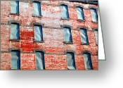 Abandon Digital Art Greeting Cards - Bended Windows Greeting Card by Jeff Stein