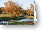 Autumn Scenes Greeting Cards - Bending Creek Greeting Card by Jan Amiss Photography