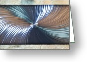 Textured Sculpture Greeting Cards - Bending Light Greeting Card by Rick Roth