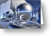 Jungian Greeting Cards - Bending the Mind of the Mirror Greeting Card by Jon Gemma In Your Living Room