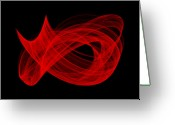 Math Greeting Cards - Bends Through II Greeting Card by Robert Krawczyk