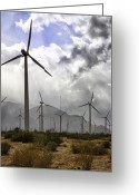 Grey Clouds Greeting Cards - Beneath the Clouds Palm Springs Greeting Card by William Dey