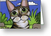 Fur Stripes Greeting Cards - Bengal Beauty Greeting Card by Leanne Wilkes
