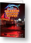 Photographers Fayette Greeting Cards - Bennetts Calabash Seafood Buffet Myrtle Beach Greeting Card by Corky Willis Atlanta Photography